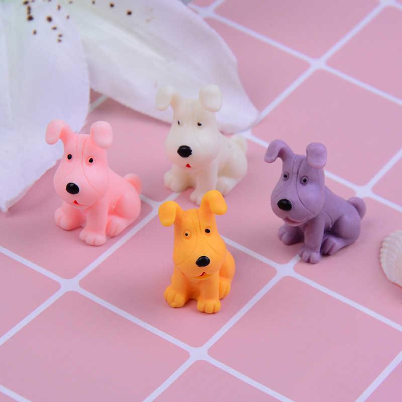 4 Pieces Anjing MINI Model Kecil Patung Mikro Kerajinan Ornamen Miniatur Anak DIY Dekorasi Taman Rumah Boneka Farm Mainan