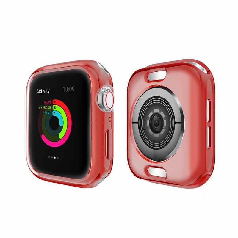 MDNEN מלא כיסוי עבור אפל שעון מקרה עבור IWatch סדרת 4 3 2 1 גודל 38mm/40mm /42mm/44mm TPU מקרה HD Transparente Ultrafino