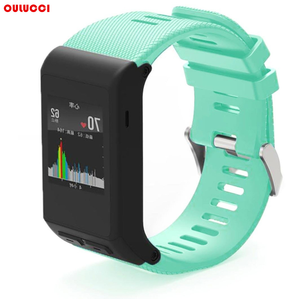 все цены на 10 Colos Available New Fashion Replacement Sports Soft Silicone Bracelet Strap Band For Garmin vivoactive HR Black онлайн