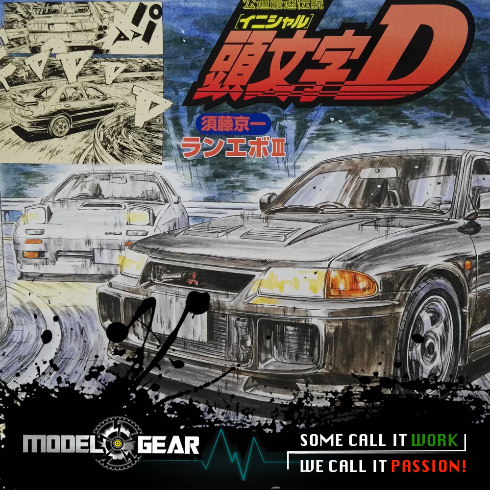 =NEW ARRIVAL= FUJIMI Model 1/24 Scale Initial D Sudou Kyouichi EVOLUTION III Comics Ver. Assembly Kit Toy Car FU18338