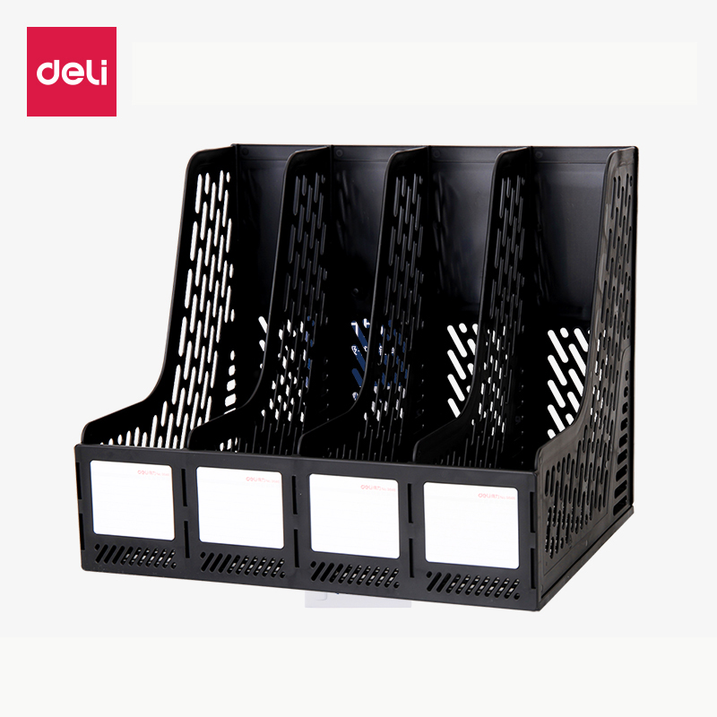 Deli 1pcs quadruple file frame plastic data frame file seat file collection basket office supplies special price 9846 трусы x file