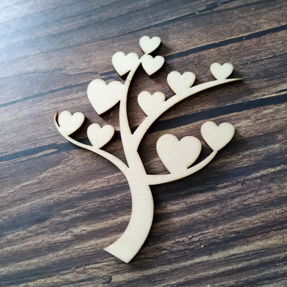 1 x Wooden Mdf Family Tree On Stand 20cm x 20cm 4mm thick detachable stand