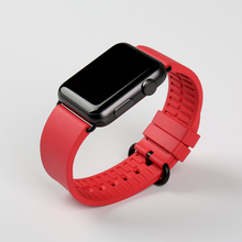 New black fluororubber watch accessories for apple 38mm 42mm