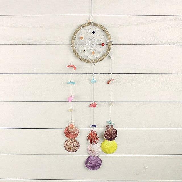 יפה פגזים רוח פעמוני תליית קישוט מעודן Windbell צדף הליפאריים מלאכות קישוטי חתונה מתנות מזכרות