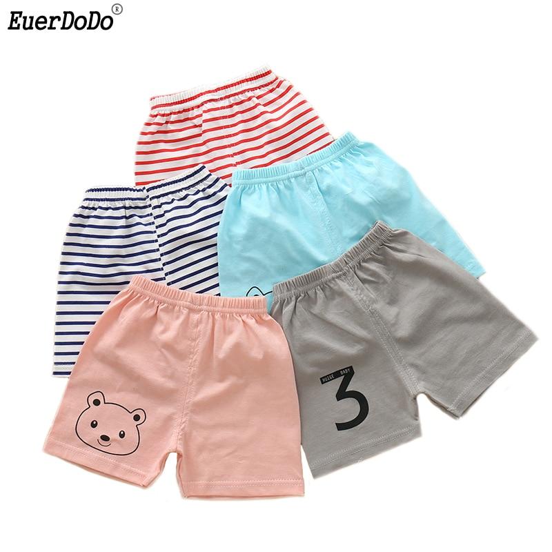 Летние шорты в полоску для маленьких мальчиков и девочек, хлопковые детские шорты для мальчиков и девочек короткие штаны с рисунком для мал...