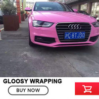 Brightness Ordinary Pink Ultra Gloss Vinyl Wrap 20m 30m With 3 Layer Structure Super Glossy