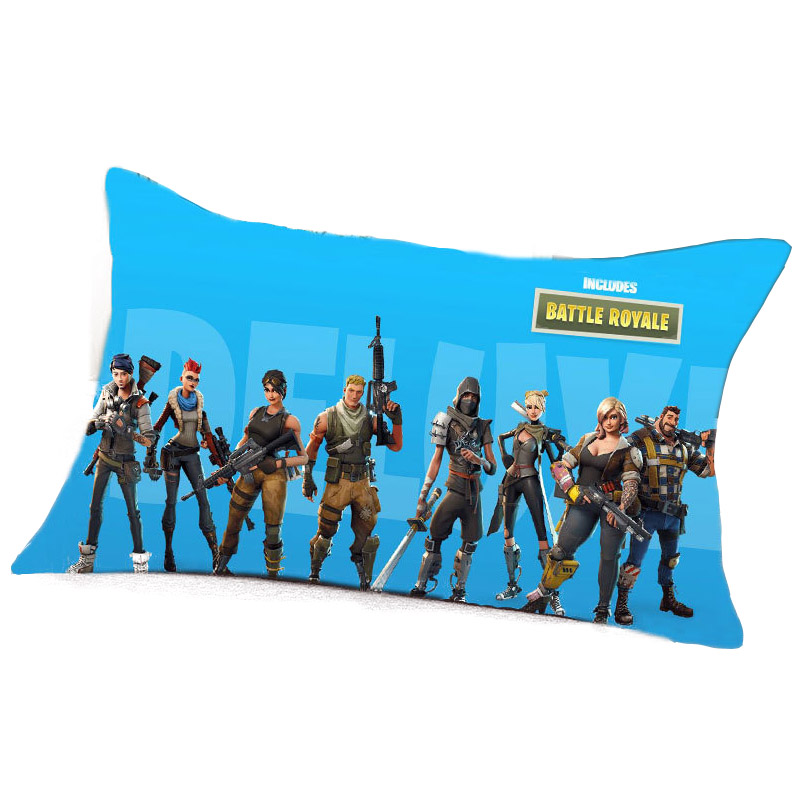 9 Colors 1pcs 40*60cm Game Fortnite Pillow Case Cover Decorative Pillow Bedding Case Home Cartoon Seat Bedroom Case Office