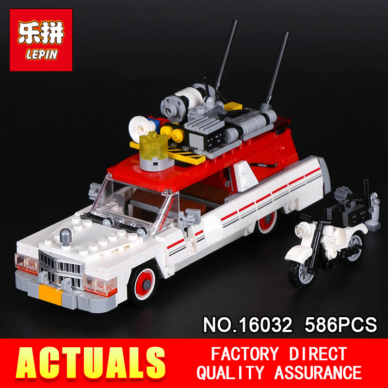 LEPIN 16032 586PCS the Movies Series Monster fighter Ghost car Model set Kits Model Compatible With 75828 for Christmas Gifts in stock new lepin 16007 2141pcs monster fighter the haunted house model set building kits model compatible with10228