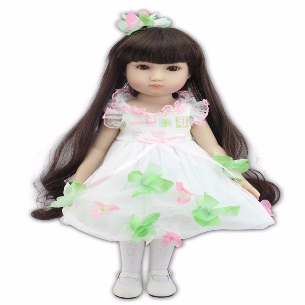 ФОТО 18 inches  baby reborn  silicone dolls 45m Beautiful little dress cute doll