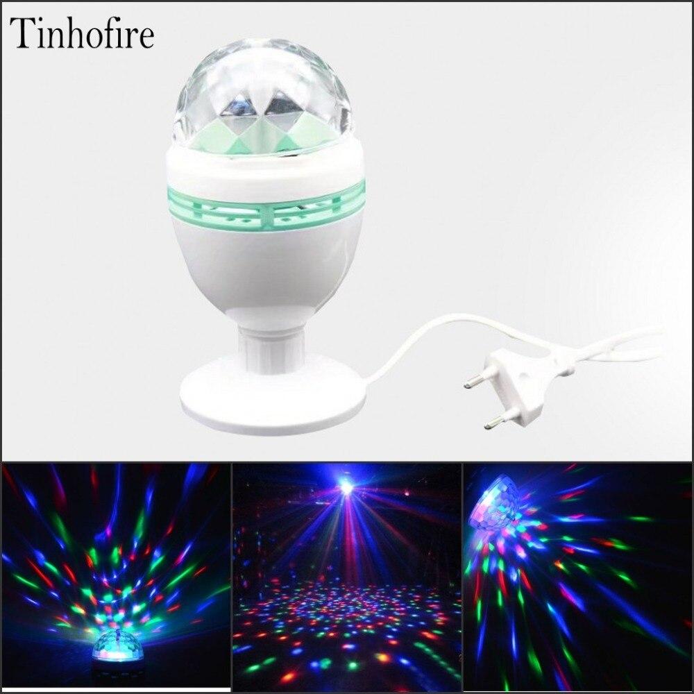 Mini 80x150mm RGB 3W LED Crystal Magic Ball Stage Effect Lighting Lamp Party Disco Club DJ Bar Light
