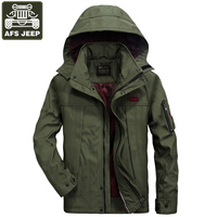 AFS JEEP Jacket Men Solid Fashion Army Military Jackets Coat For Men Jaqueta Masculino Windbreakers Plus