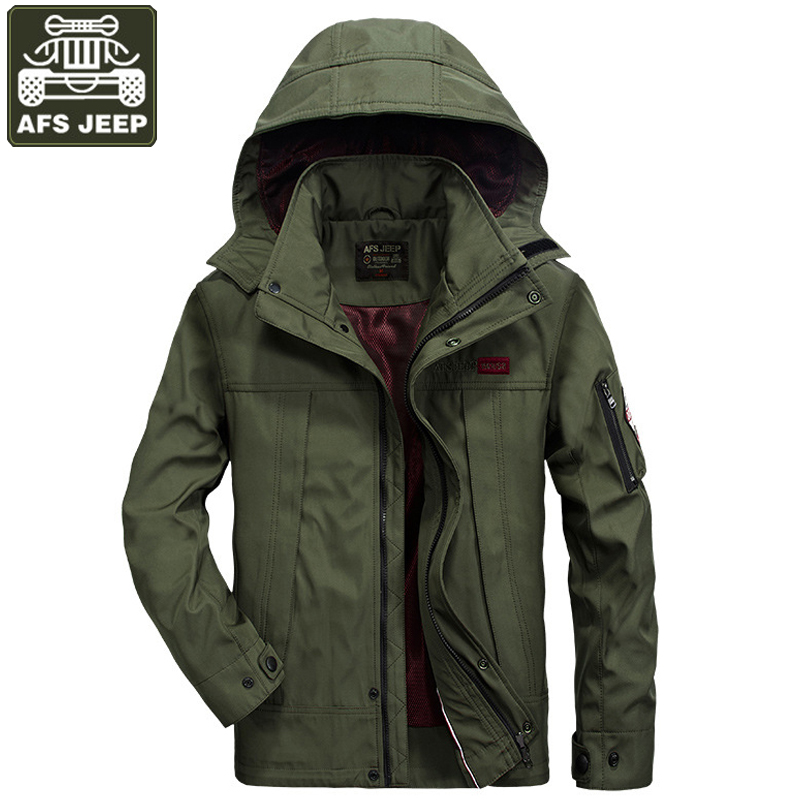 AFS JEEP Jacket Men Solid Fashion Army Military Jackets Coat For Men Jaqueta Masculino Windbreakers Plus Size M-4XL Jacket Men все цены