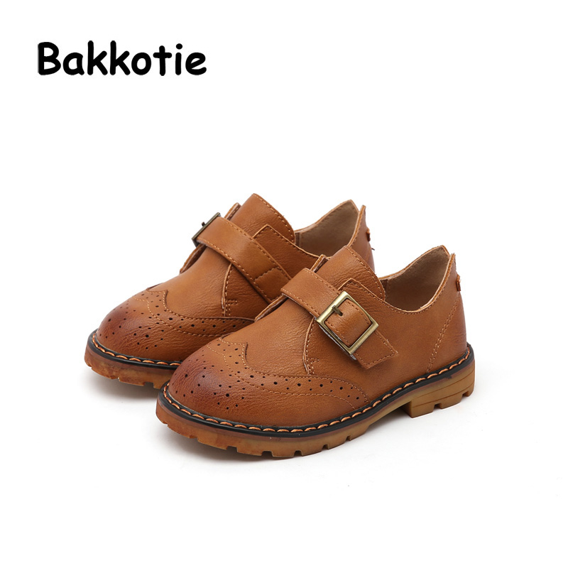 Bakkotie 2018 Spring Autumn New Fashion Bow Mary Jane Pigskin Loop Child Baby Princess Shoe Flat kid Brand Girl Soft Sole