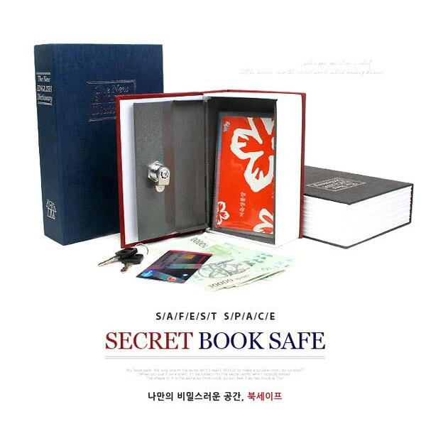 Size S 4/Color Combination Lock Hidden Box Security Lock Key English Dictionary Lock Strongbox Steel Simulation 118*115*55mm