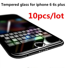 10pcs/lot Protective Glass on the iPhone 6 6s plus 9H 2.5D Ultra Thin Explosion proof Tempered Screen Protector For