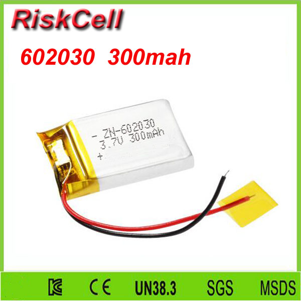 Free shipping 100pcs/lot <font><b>602030</b></font> 3.7V 300mah Lithium polymer Battery with Protection Board For MP4 GSP PSP Digital image