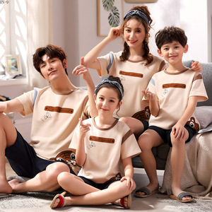 Image 3 - Summer 2019 New Childrens Pajamas Set Cartoon Family Matching Outfits Mother and Daughter Sleepwear Dad Son Pyjama Suit Lounge