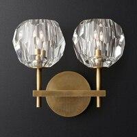 K9 кристалл современный настенный светильник BOULE DE CRISTAL один двойной бра Лофт Металл Америка освещение Ресторан отеля кафе бар лампа