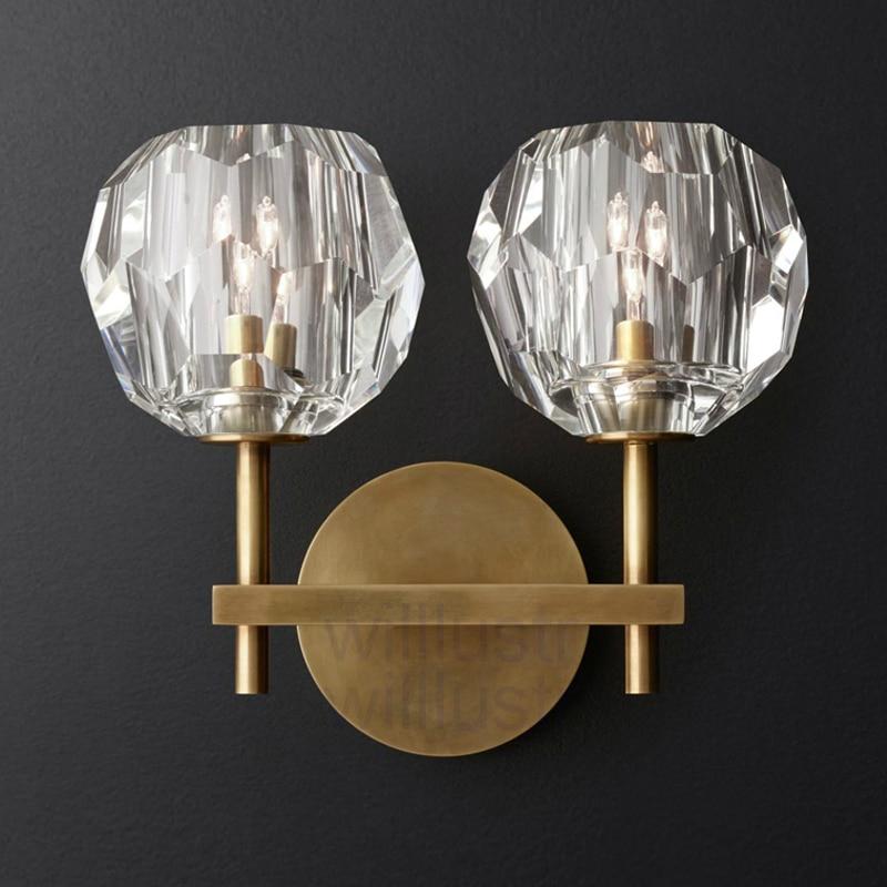 lampada de parede cristal k9 moderna luz 01