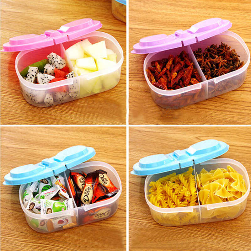 Healthy Plastic Food Container Portable Lunch Box Capacity Camping Picnic Food Fruit Container Storage Box lunch box 1PC