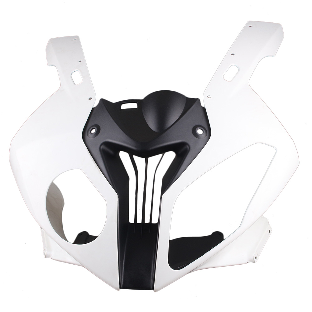 For BMW S1000RR Upper Front Cowl Nose Fairing 2010 2011 2012 Motorbike Parts Accessories Injection Mold ABS Plastic Unpainted image