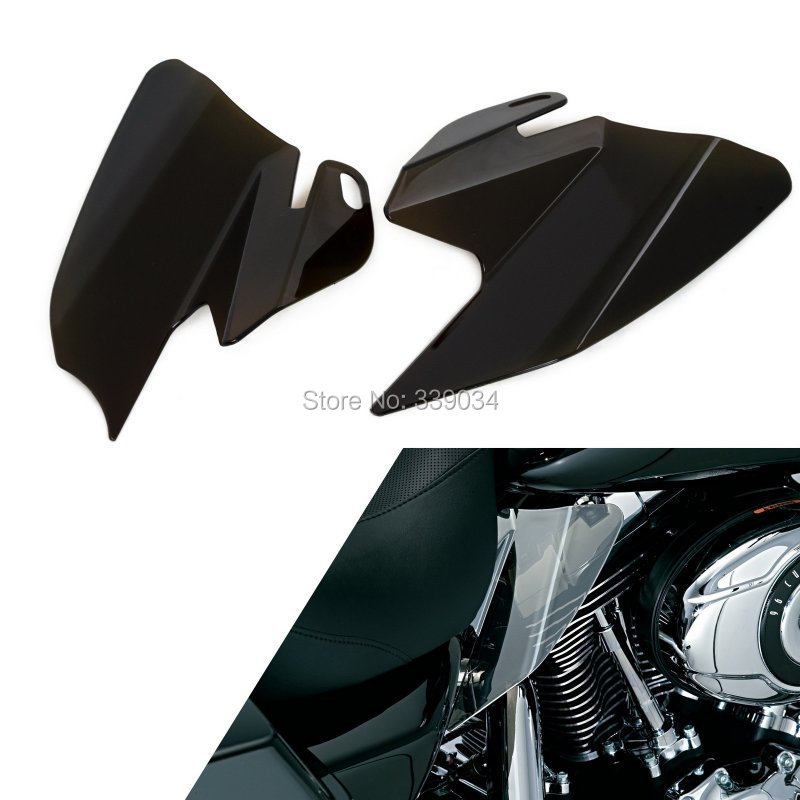 ФОТО Smoke Saddle Shield Heat Deflectors For Harley Touring FLHTC FLHRC FLTR FLHR FLHX 2008