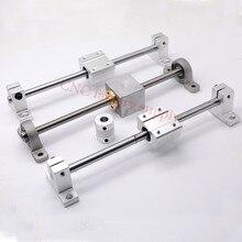 HOT sale 3D Printer guide rail sets T8 Lead screw length 500mm + linear shaft 8*500mm + KP08 SK8 SC8U + nut housing +coupling