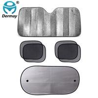 New Arrive 1 Set 6 Pcs Car Front Window Sunshade Sun Shade Screen Mesh Cover Shield