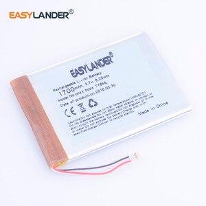 3.7V 1700mAh LI-Polymer Rechargeable Battery For E-Book onyx boox T76ML T76ML  C65ML C65HD C67ML c67ml carta2 T68 DVR MP5