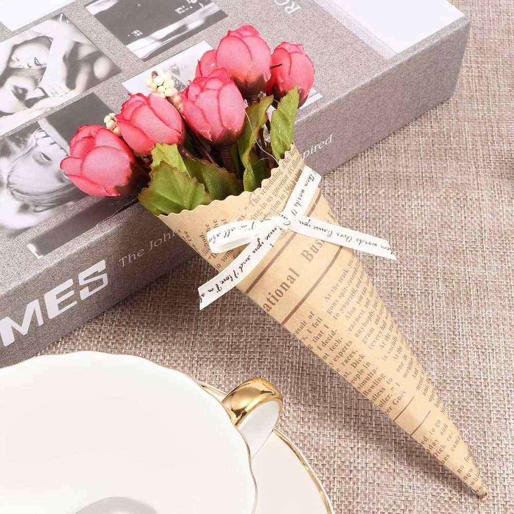 Artificial falso foto de flores Shoot Decoration seda tela periódico Gadget fotografía accesorios decoración de la boda