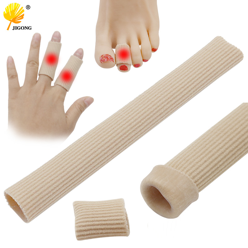 15cm Can Be Cut Toe Set Rib Fabric Gel Tube Sleeve Cap For Hammer Toe Finger Separation Protector Foot Care Finger Toe
