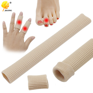15cm Can be cut toe set rib fabric gel tube sleeve cap for hammer toe finger separation protector foot care finger toe(China)