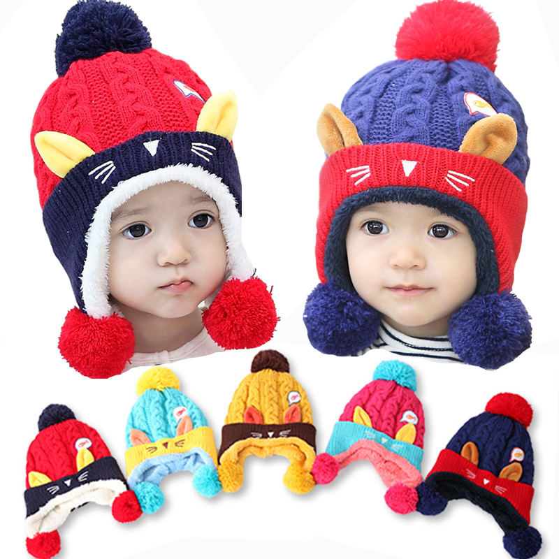Baby Hat Scarf One Piece Kids Winter Crochet Hats And Scarf Set Girls Boys All For Children Clothing and Accessories Kid Caps