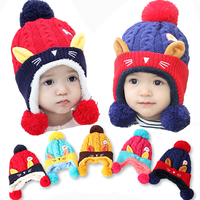 6 36 Monthes Children Caps Korean Children S Cartoon Dog Siamese Caps Cloak To Keep Warm
