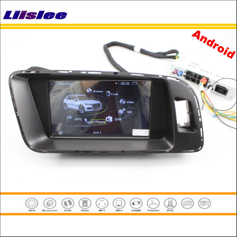 Liislee Android 4.4 Multimedia For Audi A4 A5 Q5 2009~2015 Radio CD DVD Player Mirror Link BT RDS GPS Navi Map Navigation System