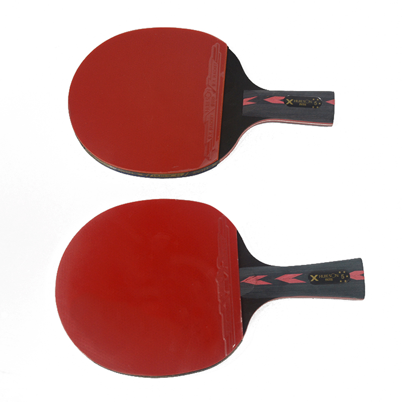 Huieson 5 Star Black & Red Carbon Fiber Table Tennis Racket Double Pimples-in Rubber Pingpong Racket for Teenager Players (10)