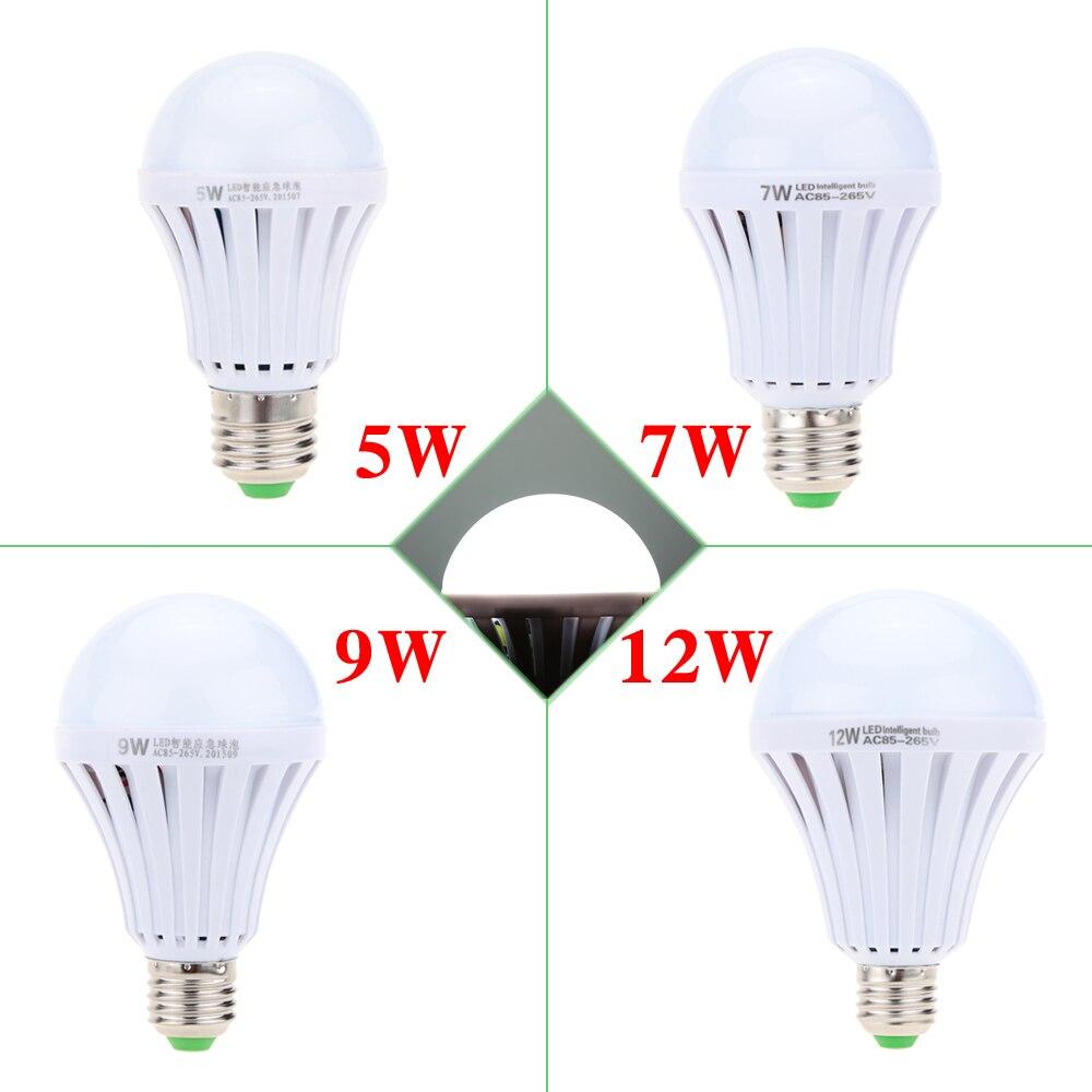Перезаряжаемые Батарея Smart LED лампы 5 Вт 7 Вт 9 Вт 12 Вт свет чрезвычайных E27 лампа для дома 5730smd Bombillas AC 85-265 В
