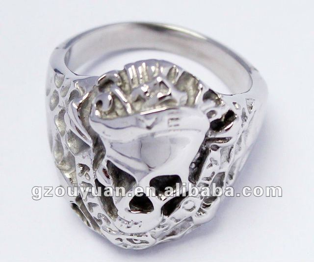 50 piece/case 316L stainless steel fashion unique design ring