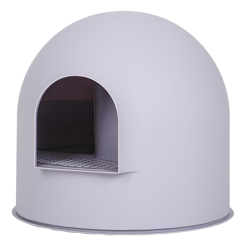 white Semi-enclosed litter box Single-layer large cat toilet Leakproof corridor Isolated odor Anti-out nontoxic materials(China)