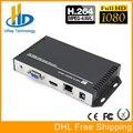 DHL envío libre H.264/H264 HDMI y VGA HD video audio decodificador IP streaming decodificador para decodificar HD Video codificador Equipos