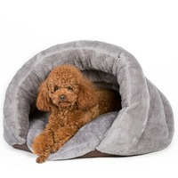Warm Pet Small Dog Cat Bed Autumn Winter Warm Dogs Cat House Portable Small Dogs Cat Sleeping Supplies P