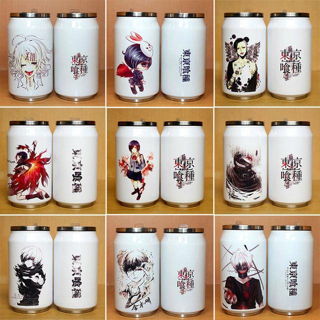 Tokio ghouls night ventosa taza de acero inoxidable de la navidad creativa latas taza de la historieta cosplay envío gratis