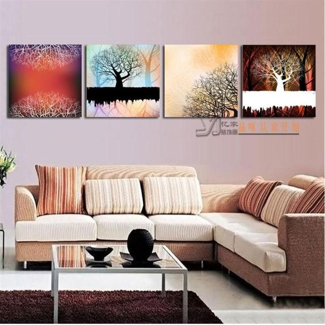 Modern Office Hall Living Room Bedroom Den Wall Paintings And Colorful Lucky Tree Mural Painting Frame Decorative Paint