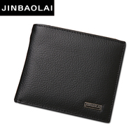 Famous Brand Genuine Leather Mens Wallet With Coin Pocket For Billeteras Masculinas Accept OEM Order With