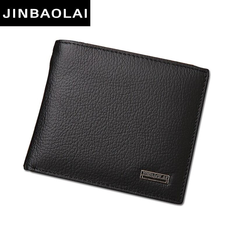 Lujo 100% cuero genuino Cartera de moda corto Bifold hombres carteras con monedero bolsillo de la carpeta monederos carteras