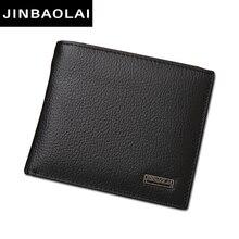 Luxury 100% Genuine Leather Wallet Fashion Short Bifold Men Wallet Casual Soild Men Wallets With Coin Pocket Purse Male Wallet