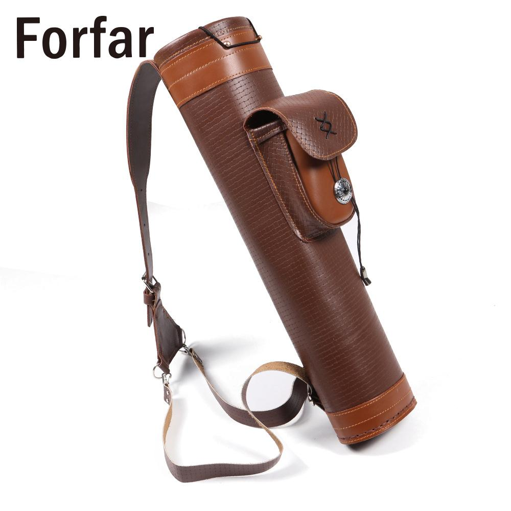 Cow Leather Shooting Arrows Bag Arrow Preservation Strong Archery Belt Bag Bowstring Archery Traditional Back archery arrow quivers handmade brown cow leather arrow holder for hunter outdoor shooting sling shot