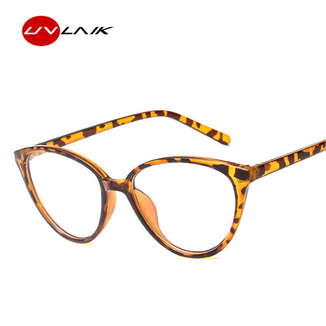 5634232656 UVLAIK mode optique lunettes femmes chat oeil cadre lunettes Transparent  lunettes dames Ultra léger clair lentille