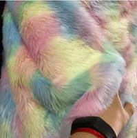 3style Camouflage fur grass animal plush wool fabric for coat textiles handmade patches Jacquard thick tecido sequin fabric A340
