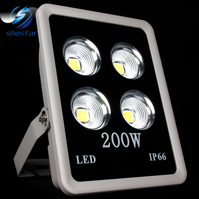 1pcs COB Led Floodlight 200W Led Spotlight Warm/Cold White AC85-265V Outdoor Lighting IP65 Waterproof for street yard ultrathin led flood light 100w led floodlight ip65 waterproof ac85v 265v warm cold white led spotlight outdoor lighting